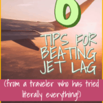 How to Beat Jet Lag - The Office Escape Artist || Do you have an overnight flight coming up? Don't let your first day go to waste! You can beat jet lag with these 6 tips. These are the best tips for long, overnight flights to Europe, Asia, and elsewhere! #howtobeatjetlag #jetlag #traveltips #travelhacks #flyingtips #flyinghacks