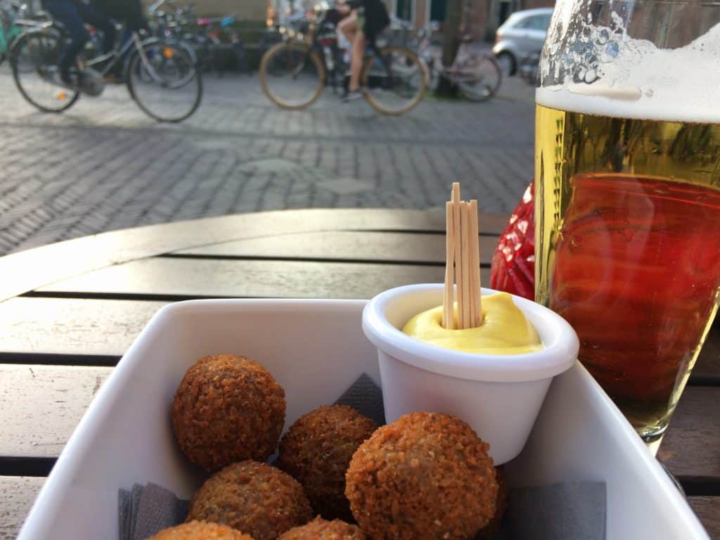 Bitterballen and beers in the Netherlands