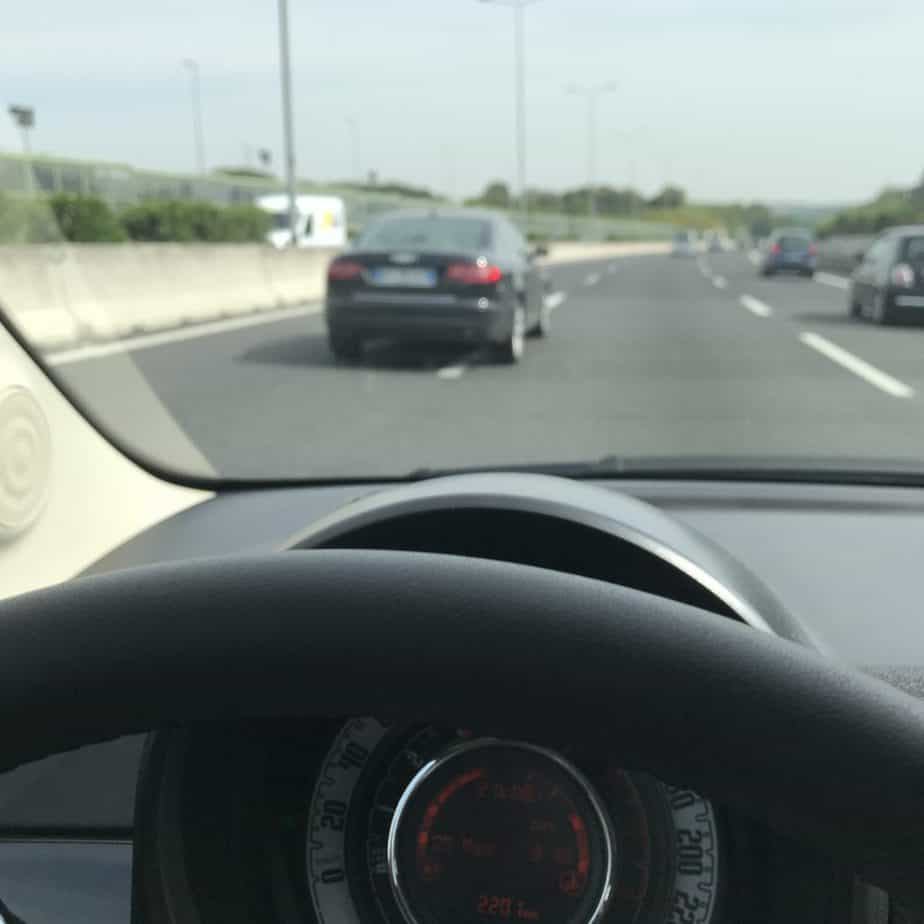 Straddling the line - driving in Italy