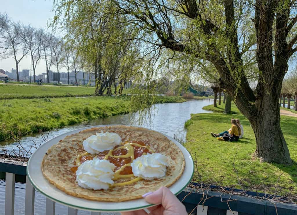 Apple pancakes at Zaanse Schans, a perfect Amsterdam day trip from The Daily Adventures of Me