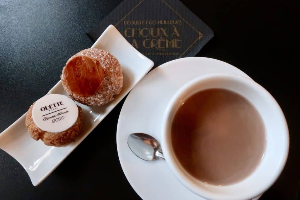 Odette Cream Puffs and Hot Chocolate