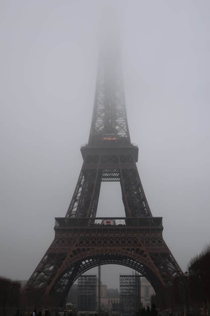The Eiffel Tower in Fog - Paris in January