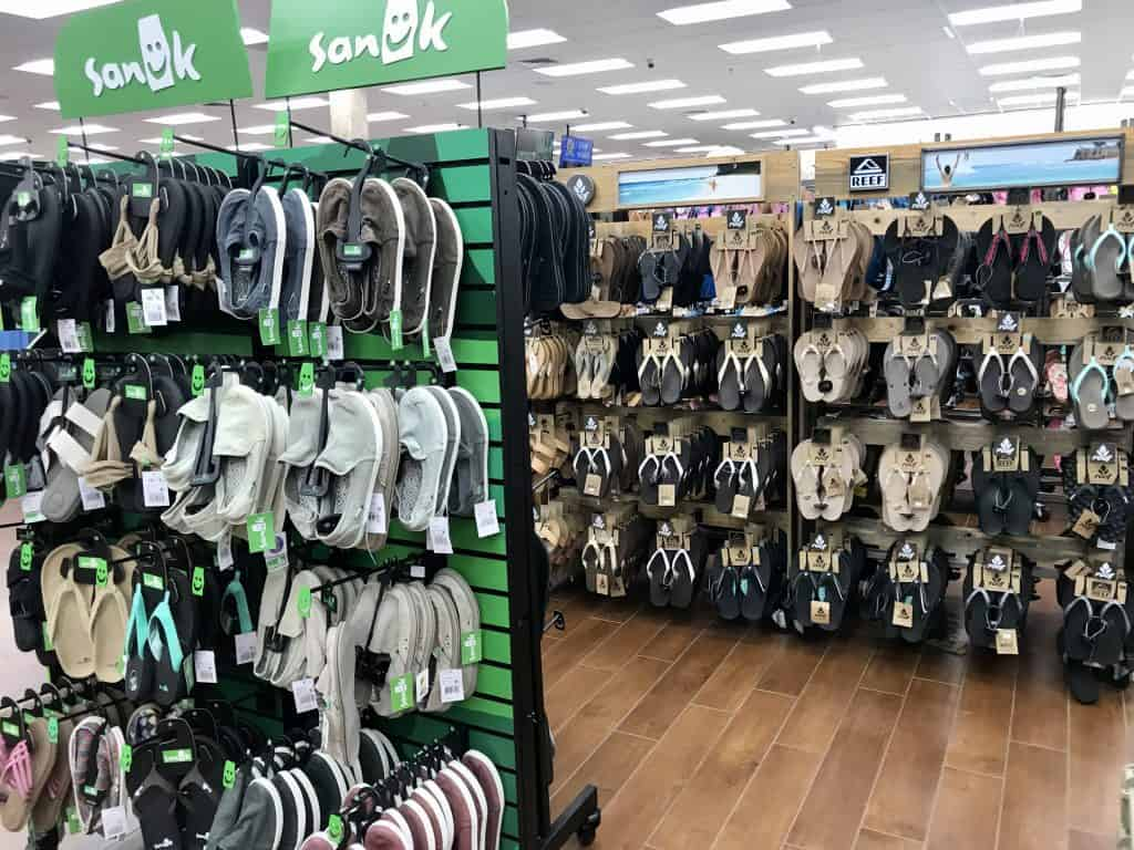 Best gifts to buy at Buc-ee's: Shoes and sandals