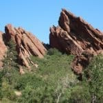 Roxborough State Park red rock outcroppings in Littleton Colorado, just an hour south of Denver